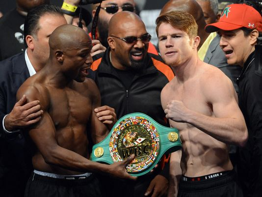 Mayweather vs. Canelo Weigh In - Potshot Boxing