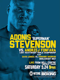 Weigh in - Adonis Stevenson vs. Fonfara - Potshot Boxing