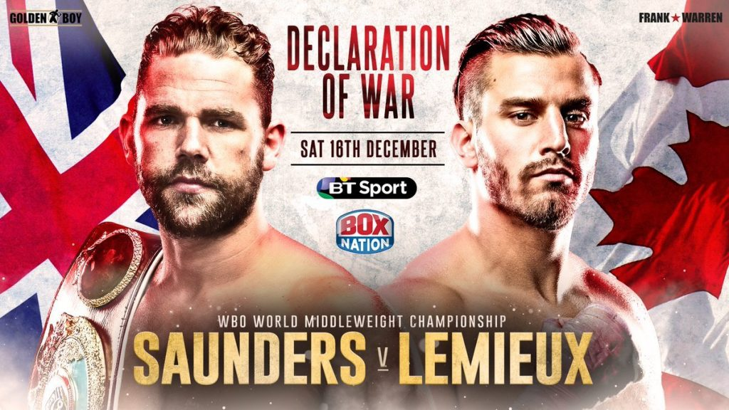 billy joe saunders vs. david lemieux prediction - Potshot Boxing