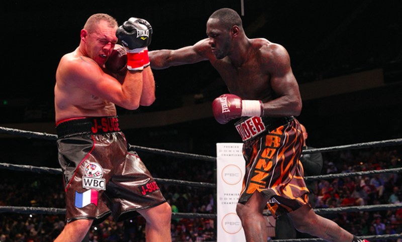 deontay wilder pounds out duhaupas - Potshot Boxing