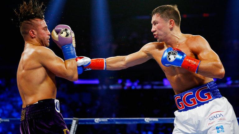 gennady golovkin walks through David Lemieux - Potshot Boxing