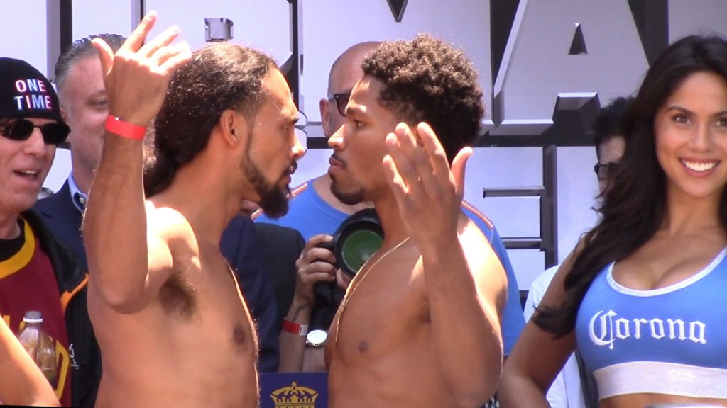 keith thurman and shawn porter weigh in - Potshot Boxing
