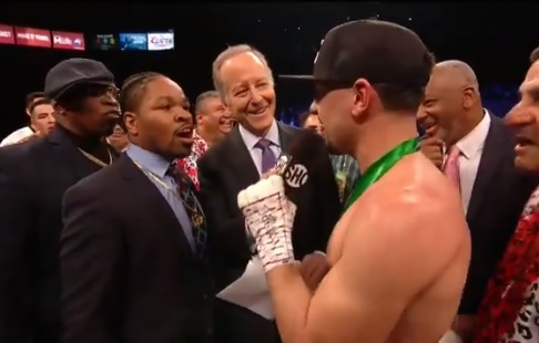 shawn porter interrupts Danny Garcis's post fight interview - Potshot Boxing
